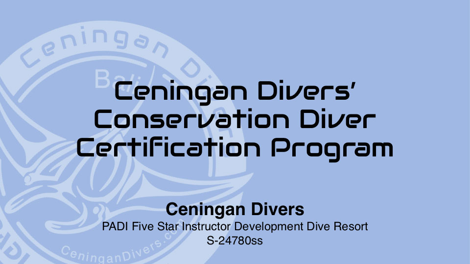 Conservation Diver Certification Program
